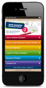 International Education Services mobile website